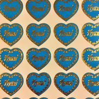 タイ語 ハート ブルー シール THAI HEART BLUE STICKER