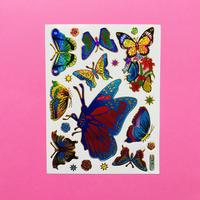 蝶々 ⑦ キラキラ シール BUTTERFLY STICKER
