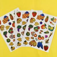 フルーツ キラキラ シール 3枚セット ① fruit stickers