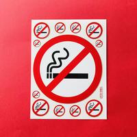 禁煙マーク ② キラキラ シール NO SMOKING STICKER