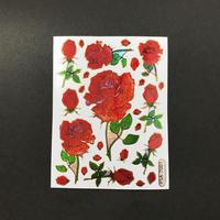 薔薇 ローズ ② キラキラ シール  ROSE STICKER