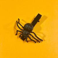 クモ  ヘアクリップ アクセサリー 黒 Spider Hair clip black