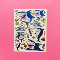 サメ キラキラ シール SHARK STICKER