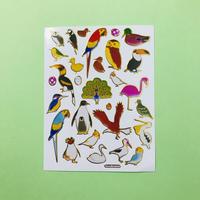 鳥 キラキラ シール BIRD STICKER