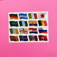 世界国旗 キラキラ シール WORLD FLAG STICKER