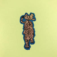 白虎 シール ①  WHITE TIGER STICKER