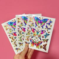 蝶々 キラキラ シール 3枚セット ③  BUTTERFLY STICKER