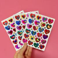 ハート イラスト シール 3枚セット heart illustration sticker