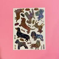 犬 ④ キラキラ シール DOG STICKER