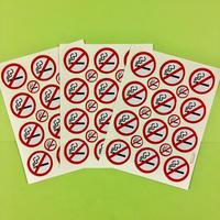 禁煙マーク キラキラ シール 3枚セット NO SMOKING STICKER