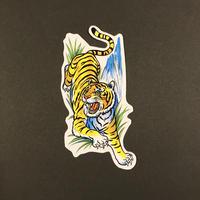 トラ 虎 シール 草の中 Lサイズ  TIGER STICKER LARGE SIZE