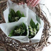 『スズランのブーケ』と『Lajiの押し花カード』 4月27日お届け