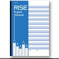 RISE英語罫線(4線)ノート : 3冊セット