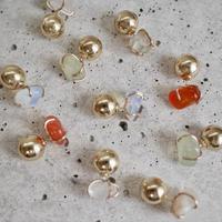 Gemstone earrings 14Kgf gold