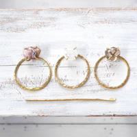 Gemstone hair jewelry 「Circle」