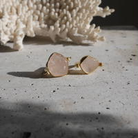 Rose quartz revolving ring 925