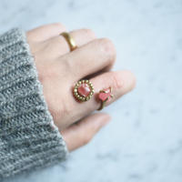 Gemstone twin ring