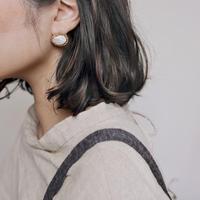 Baroque pearl ball earrings