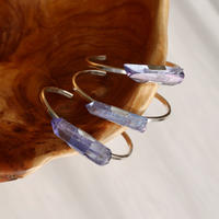 Tanzanite aura sword bangle