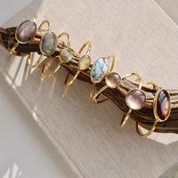 Gem stone bangle -02