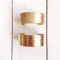 Brass wide bangle -02