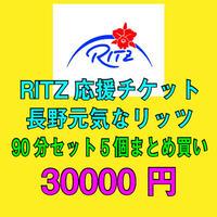 リッツ応援チケット 長野店セット料金「まとめ買い」90分セット5枚30000円