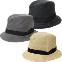 "KIJIMA TAKAYUKI(キジマ タカユキ)""PAPER CLOTH RIBBON BRIM HAT [No.171338]"""