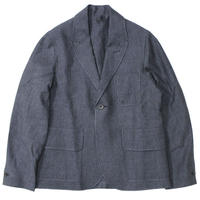 "S.E.H KELLY(エスイーエイチケリー)""NORTHERN IRISH DOT LINEN SB1 JACKET"""