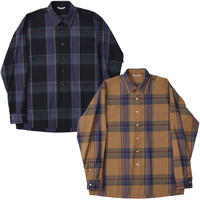 "AURALEE(オーラリー)""SUPER LIGHT WOOL CHECK SHIRTS"""