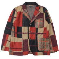"Engineered Garments(エンジニアード ガーメンツ)""Knit Jacket - Gun Club Multi Check Knit"""