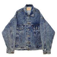 "Vintage Levi's Denim Tracker Jacket ""Stone Wash"""