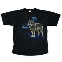 "80s "" vintage ""  wolf print t-shirt"
