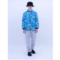 Hawaiian Flower Reversible Nylon Jacket