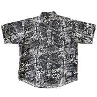 "90s "" RAF ""  fossil print s/s shirt"