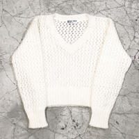 See through V Mohair Knit