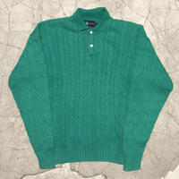 Vintage Ralph Lauren Cable Knit Polo Shirt