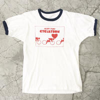 "Old Print Tee ""Cycling Ringer"""