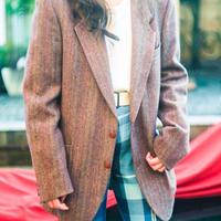 80's Yebs Saint Laurent Tweed Tailored Jacket