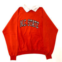 """80s  """" N.C. STATE """"  print sweat with collor"""