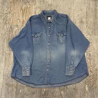 90s wrangler denim western shirt