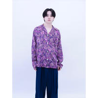 Silk Pajamas Open Collar Shirt