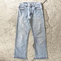 Levi's 505 High Waist Fringe Jeans