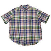 """"""" RALPH LAUREN """" s/s check button-down shirt"""