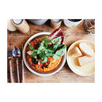 ソイミートと豆乳のとろけるトマトクリームラザニアと旬野菜【4人前】