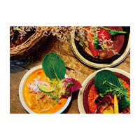 【Food3点Set】スープカレーとトマトクリームラザニア とラクサヌードルSet【各2人前】