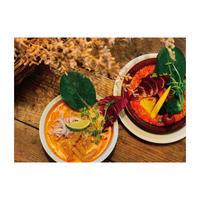 豆乳スープのラクサヌードルとトマトクリームラザニア Set【各2人前】