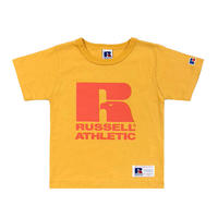 RUSSELL ATHLETIC  プリントTシャツ<1001PT KIDS_OLD GOLD>