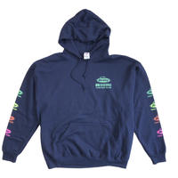 Berkley×RUSSELL ATHLETICコラボ プルパーカー<004BK_NAVY>