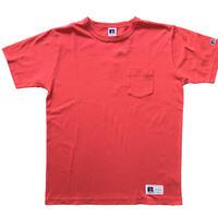 RUSSELL ATHLETIC ポケ付Tシャツ1002<レッド>