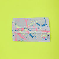 DENIM MASK  COVER  white/neon pink×neon yellow×blue 3534  Mサイズ